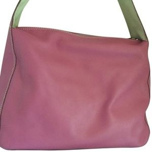 Kate Spade Bow Strap Purse Pink Leather Hobo Bag